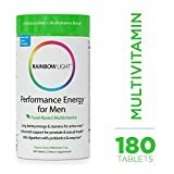 Rainbow Light - Performance Energy for Men Multivitamin - Provides Antioxidant Protection, Supports Energy, Calcium Absorption, Tooth and Bone Health, Prostate and Sexual Health in Men - 180 Tablets