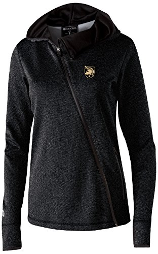 NCAA Army Black Knights Women's Artillery Angled Jacket, Large, Black Heather