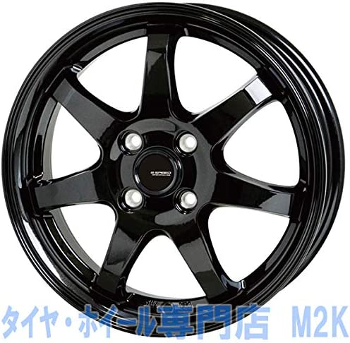 業販価格 15インチ G-03 5.5J+43 4H-100 4本 ブラック ホイール アクア スイフト カローラ 個人宅不可