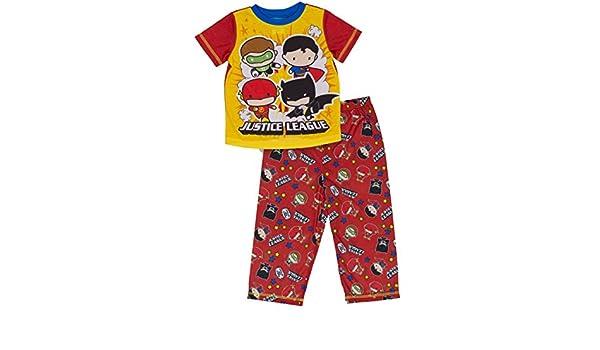 c31d088741d9 Amazon.com  DC Comics Boys Justice League Chibis 2-pc Toddler Pajama ...