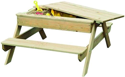 Outdoor Toys KJ12101 - Mesa de Picnic de Madera con arenero ...
