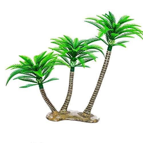 BESTOYARD Artificial Coconut Tree Decor Mini Tropical Palm Trees Fairy Garden Landscape Scenery - Coconut Artificial