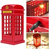 London Phone Booth Night Lamp Meco Dimmable Led Bedside Table Lamp For Home Restaurant Bedroom Decor Novelty Children Mother S Day Gift