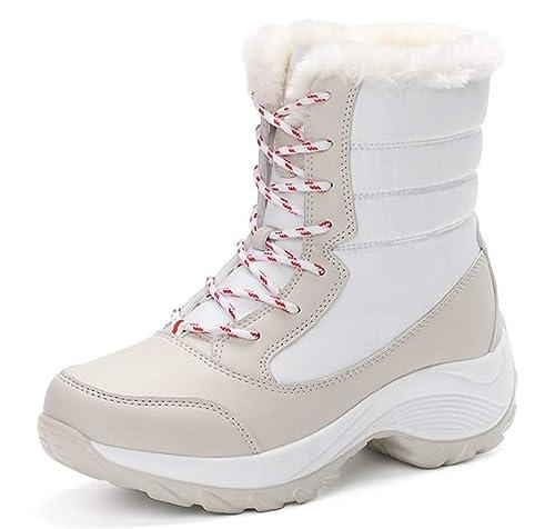 088d55adefc74 WUIWUIYU Fille Femmes Waterproof Boots