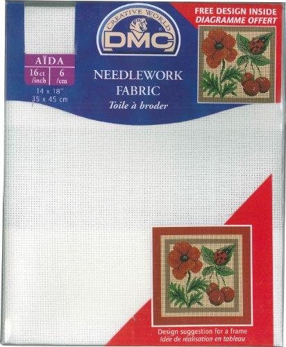 DMC Aida Zählstoff 16 ct/inch - 6,4 Fäden pro Zentimeter 14 x 18