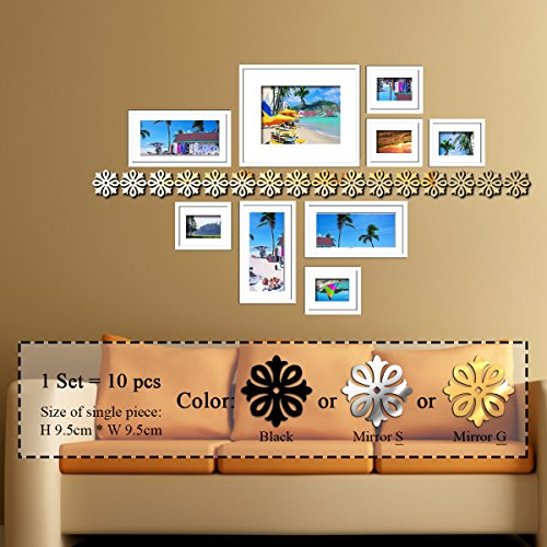 Adorable Fairy & Butterfly Silver Acrylic Mirror Wall Clock Wall Sticker DIY - 8