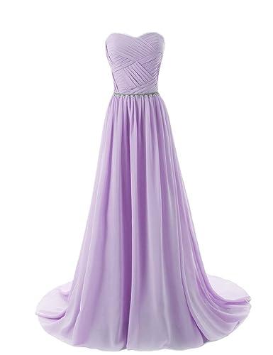 Aurora Bridal® Sweetheart Bridesmaid Chiffon Prom Dresses Long Evening Gowns