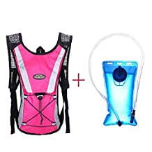 Lookatool Water Bladder Bag Backpack+Hydration Packs Camelbak Hiking Camping 2L