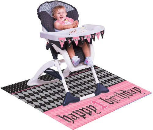 [Creative Converting Angel First Birthday High Chair Kit] (Halloween Decorations For 1st Birthday)