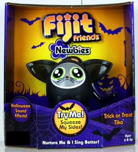 Fijit Friends Newbies Halloween CAT Figure BLACK TRICK or TREAT TIKA - LIMITED (Black Cat Limited Edition)