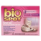 Bio Spot Spot On Flea & Tick Control for Cats & Kittens Over 5 Pounds, 3-Month Supply