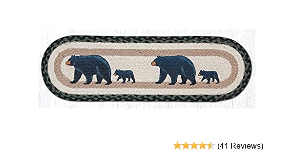 Amazon Com Earth Rugs 8 25 X 27 Oval Printed Braided Stair Treads