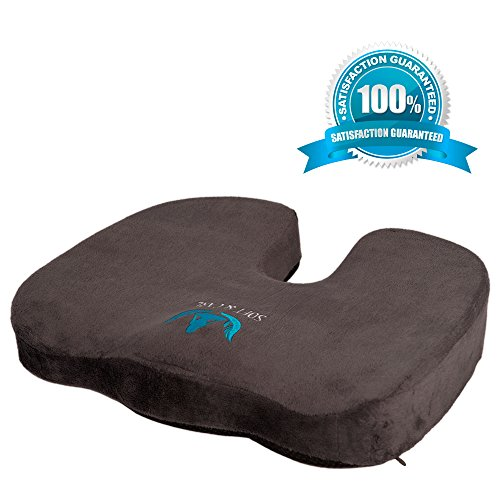 Soft&Care Premium Orthopedic Seat Cushion & Coccyx Cushion. Best Office Chair Cushion and Car Cushion Seat for Sciatica Pain Relief - Relieve Your Pain!