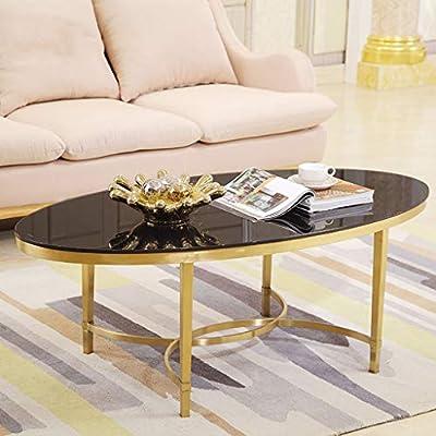 Amazon.com: DXJNI - Oval Coffee Table, Wrought Iron Tea ...