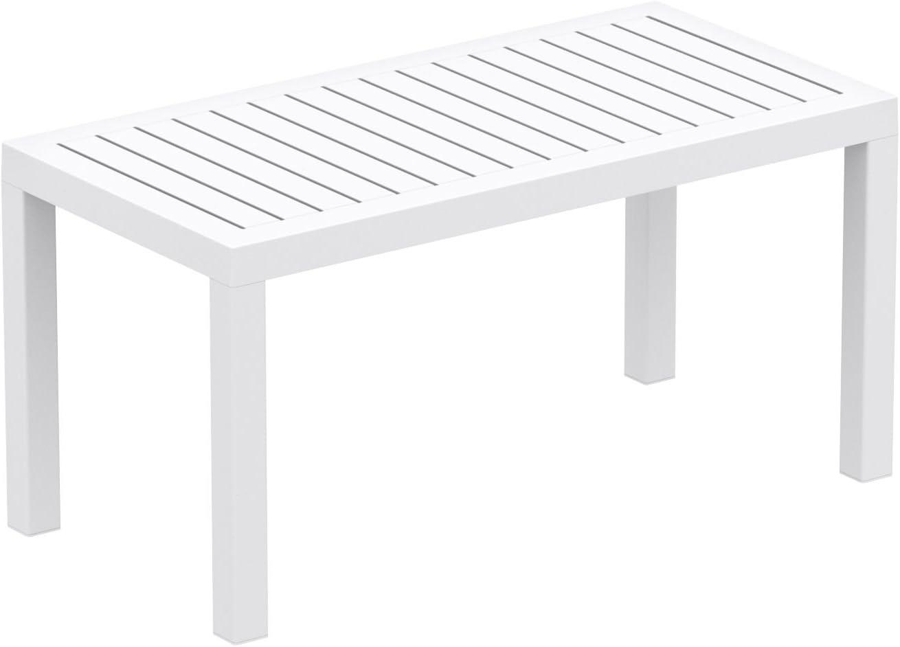 Compamia Ocean Rectangle Cofee Table White