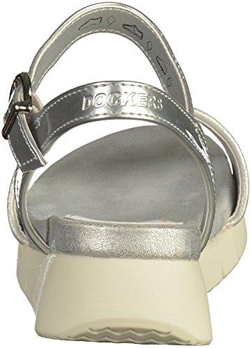 Dockers 40KR204 Damen Sandalen Silber, EU 38