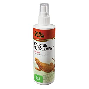 Zilla Calcium Supplement Reptile Food Spray