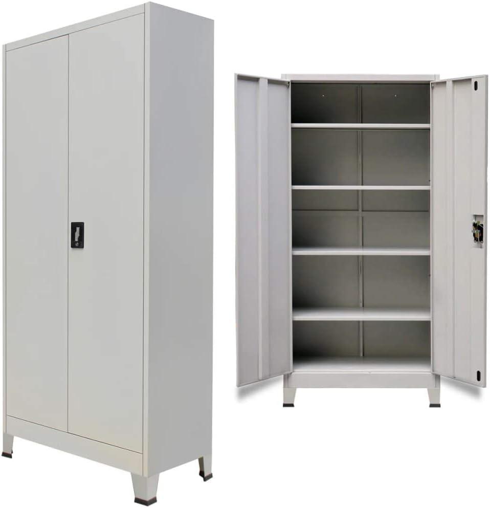 Armario Archivador Oficina,Armario de oficina con 2 puertas acero ...