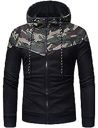 Men's Hoodies Patchwork Camo Sweatshirt Thick Pullover Winter Warm Jacket Hooded New Style Zipper Coats