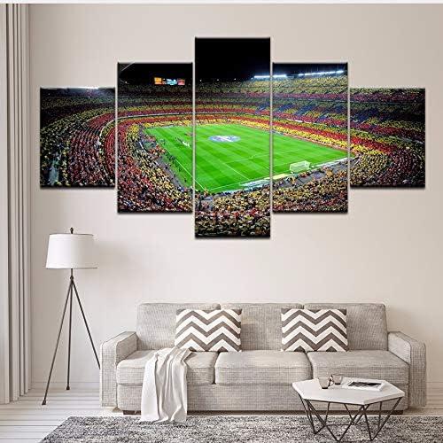 xzfddn Pintura de la Lona españa FC Barcelona Deportes de fútbol 5 ...