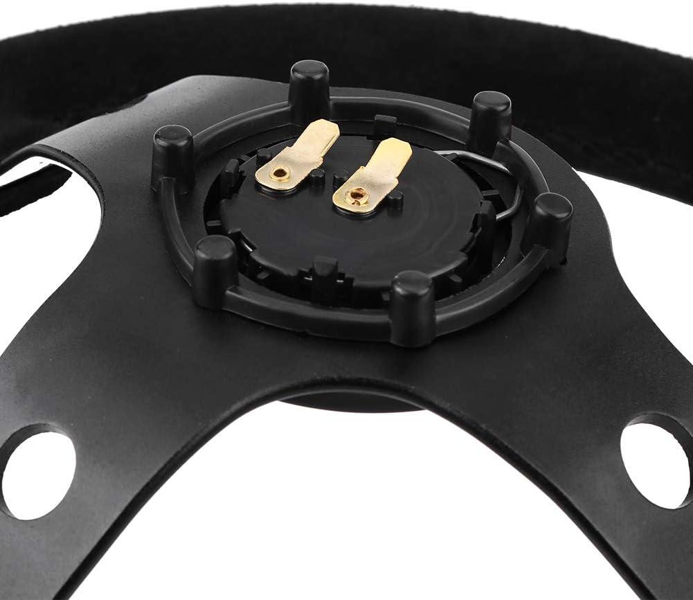 Universal 35/cm//14/inch 6/pernos coche autom/ático volante de carreras con cuerno Volante de aluminio