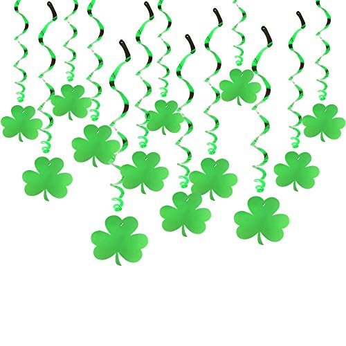 Tuoyi St Patrick's Day Decorations,Lucky Irish Shamrock Banner St.Patrick's Day Decor Irish Party Supplies (C) ()