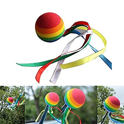 Twinkling Stars Automobile Car Antenna Topper Eva Decorative Topper Balls 2pcs Ribbon