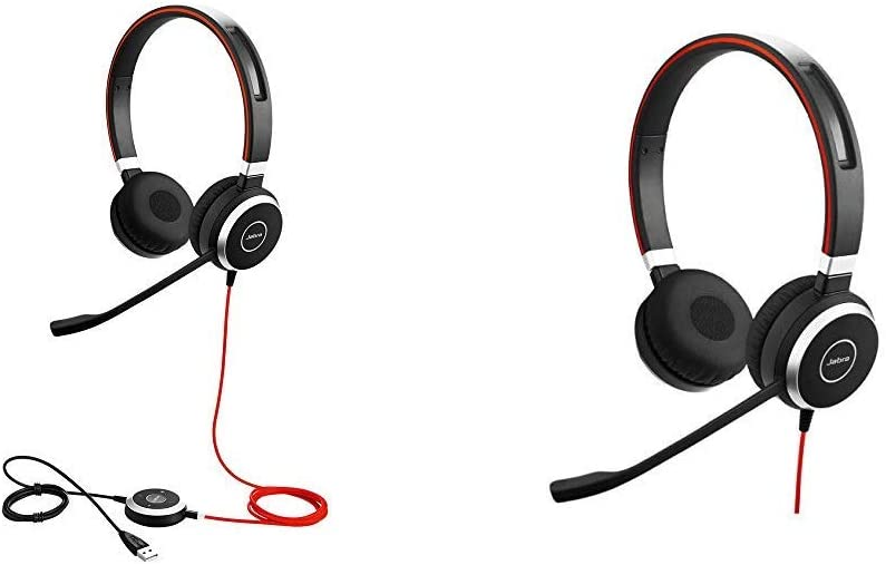 Jabra Evolve 40 UC Stereo Wired Headset/Music Headphones (U.S. Retail Packaging) Bundle with Jabra Evolve 40 Stereo UC - Professional Unified Communicaton Headset