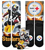 NFL ANTONIO BROWN DYE SUBLIMATED GRAPHICS SOCK - STEELERS