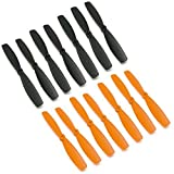 RAYCorp? 6045 6x4.5 Bullnose Propellers. 16 Pieces(8 CW, 8 CCW) Black & Orange Genuine & 6-inch Quadcopter and Multirotor Props + Battery Strap by RAYCorp