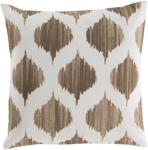 Artistic Weavers SY018-2222P Synthetic Fill Pillow, 22-Inch by 22-Inch, Mocha Ivory