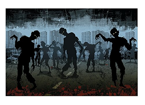 Halloween Zombie Backdrop Banner (3 Pcs. per Set) 6 ft. x 9 ft. Plastic for $<!--$15.89-->