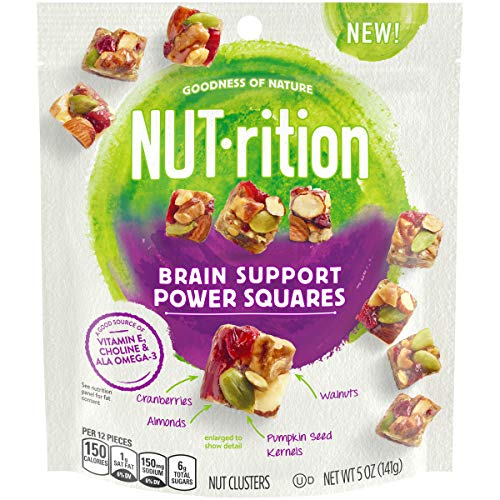 NUTrition Brain Support Power Squares Nut Clusters, 5 oz