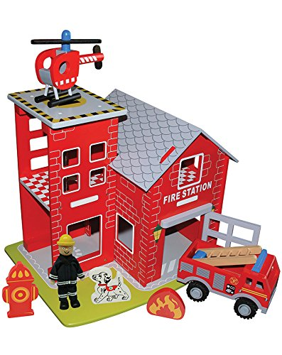 Feuerwehrstation Holz - New Classic Toys Feuerwache