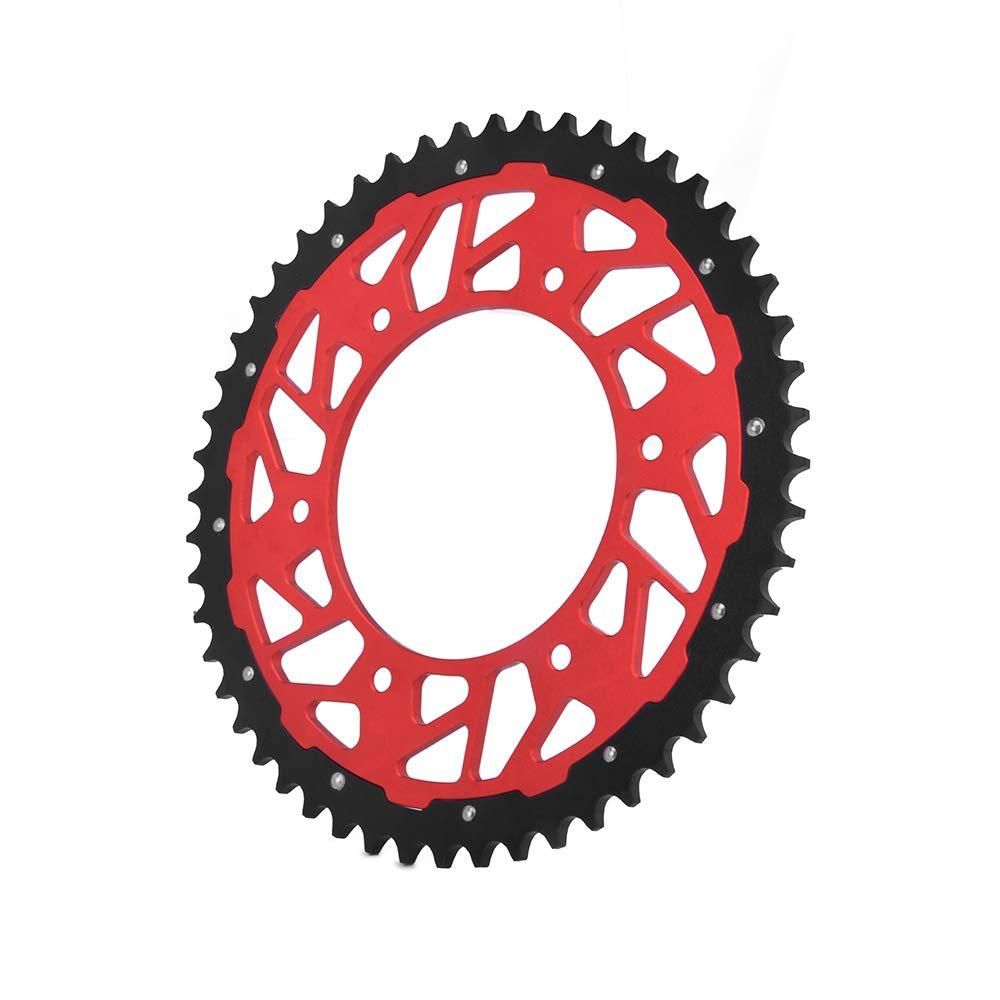 JFG RACING CNC 49T Rear Chain Sprocket For For Honda CR125R 87-07 CR250R 84-08 CR500R 86-01 CRF150F CRF230F 03-12 CRF250R 04-16 CRF450R 02-16 XR250R 97-04 XR400R 96-04 XR600R 91-00 XR650R 00-07