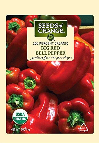 Seeds Of Change 6994 Certified Organic Pepper Sweet Big - Pepper Red Bell Sweet Organic