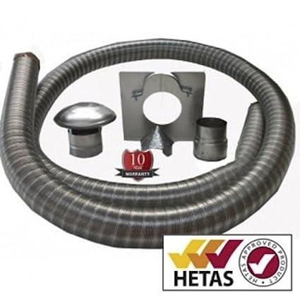 6 Metre 12,7 cm 904 unidades tubo Flexible Multifuel estufa petex/clase 1