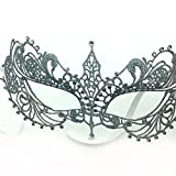 Face mask Shield Veil Guard Screen Domino False Front Sex Gold and Silver Small Pointed Diamonds Lace mask Fifty Degrees Gray Movie Makeup Dance Party Party Performance Supplies Silver