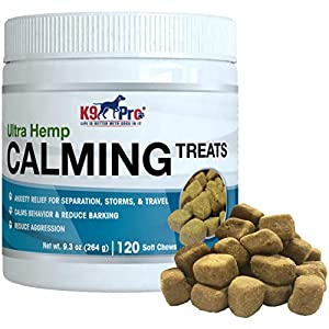 K9 Pro Calming Treats for Dogs – Tasty Hemp Anxiety Relief Chews Aid Composure and Reduce Stress Separation – Calm…