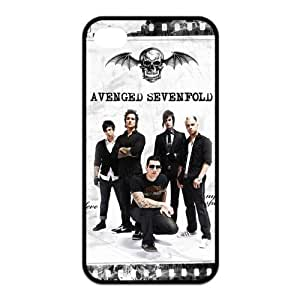 Custom Your Own Unique Rock Band Avenged Sevenfold A7X M Shadows Silicon iPhone 4/4S Cover Snap on A7X iPhone 4/4S Case