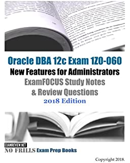 Amazon com: OCP 12c Upgrade 1Z0-060 Exam Guide (9781787126602