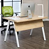 47'' Computer Desk Large Surface Office Desk Study Writing Desk Table Workstation for Home Office School,White