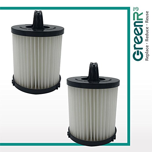 GreenR3 2-PACK Air Filter True HEPA Dust Cup for EUREKA DCF-21 Fits EUREKA 68931 68931A Electrolux Filtrete Model Series Replacement Parts Cleaning Tool Part Vacuum Cleaner Upright Brand and more