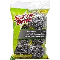 Scotch-Brite Stainless Steel Spiral, 6 pieces