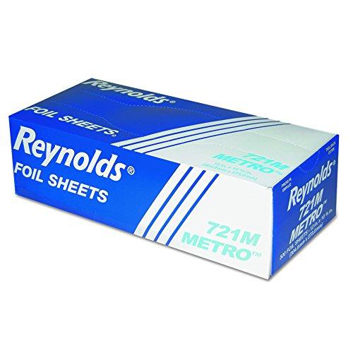 Plain Foil Wraps (Reynolds 721M Plain Metro Sandwich Wrap Interfolded Foil Sheets, 12