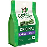 Greenies Original Large Dental Dog Treats, 18 Oz. Pack (12 Treats), Makes A Great Holiday Dog Present