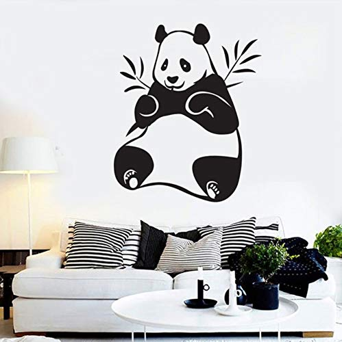 Pbldb New Panda Bamboo Vinyl Wall Decal Home Decor Living Room Bedroom Art Mural Removable Wall Stickers 43X52Cm -