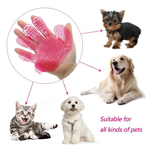 Practical Palm Shape Pet Bath Brush Sh...