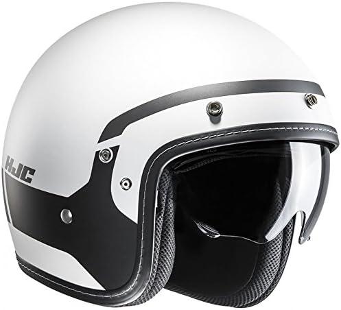 Hjc Motorrad Jethelm Fg 70 Modik Schwarz Weiß Small Weiß Hjc Bekleidung