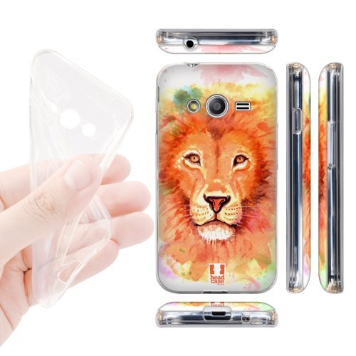 Head Case Designs Lion Watercoloured Animals Soft Gel Back Case Cover for Samsung Galaxy Ace NXT G313HDual